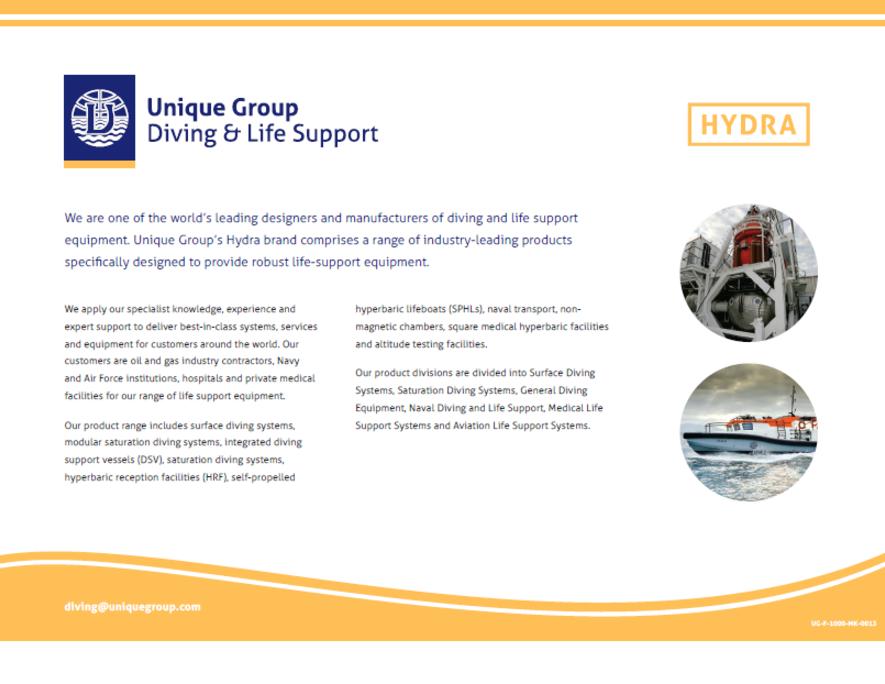 Diving & Life Support   Diving Equipment   Unique Group