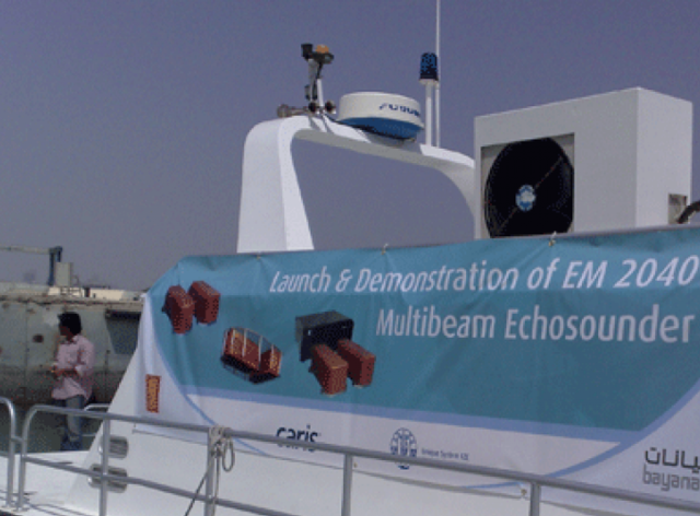 UMG launches the Kongsberg EM2040 Multibeam Echo Sounder in the Middle East with a live demonstration in Abu Dhabi in Collaboration with Bayanat for Mapping & Surveying Services