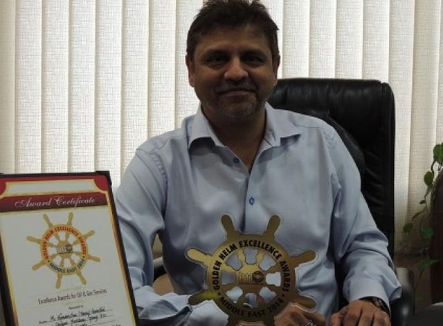 Unique Maritime Group CEO, Harry Gandhi Honored by the International Golden Helm Awards 2014