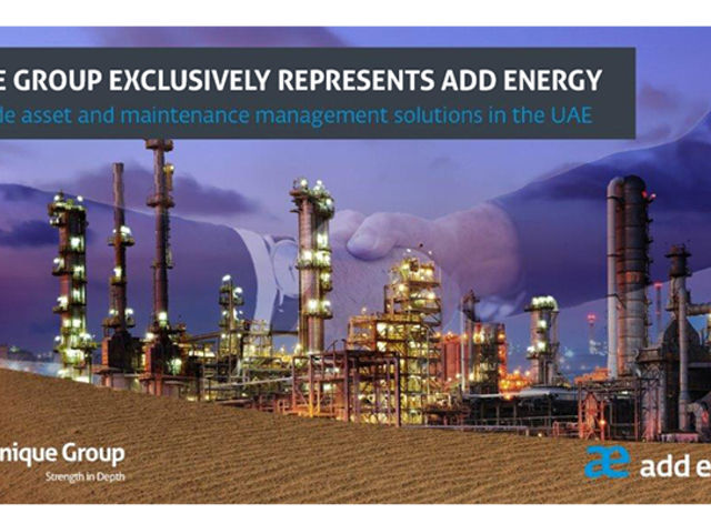 Unique Group to exclusively represent Add Energy to provide asset and maintenance management solutions in the UAE