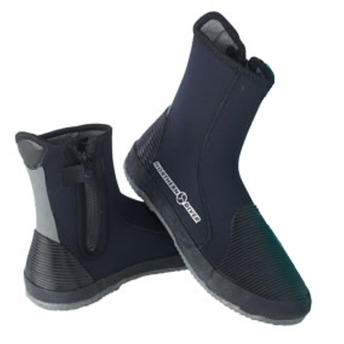 Diver Boot, Standard Sole with Side Zip